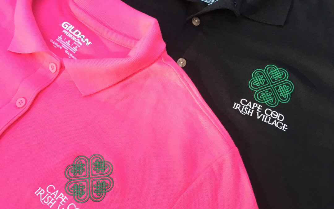 Cape Cod Irish Village Embroidered Polo Shirts