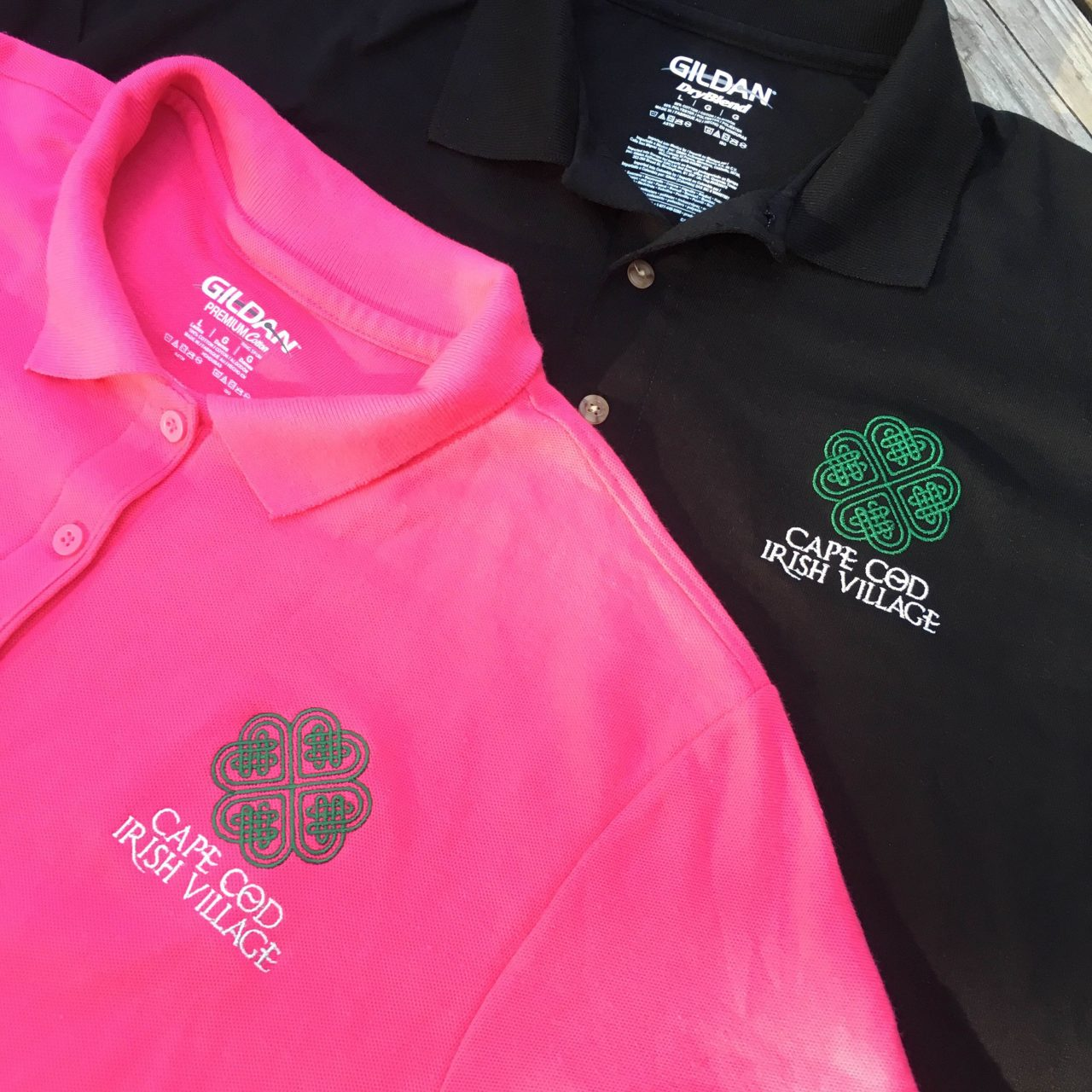 Cape Cod Irish Village Embroidered Polo Shirts
