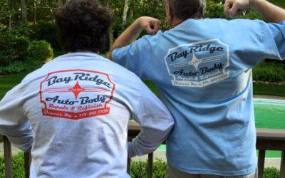 Bay Ridge Auto Body Logo Design and Screen Printing