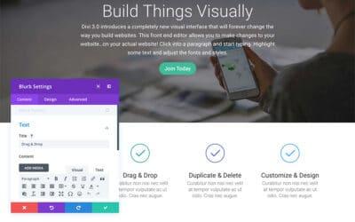 Using the Divi Visual Builder